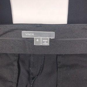 Vince Pants - Vince. | Black Pintuck Seam Side Tab Crop Pants